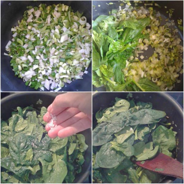 Greek spinach pie filling