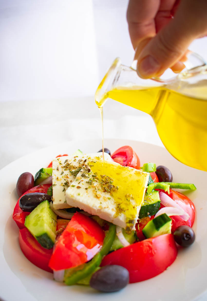 Authentic Greek Salad With Olive Oil