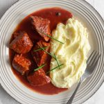 Greek Beef Stew In Tomato Sauce