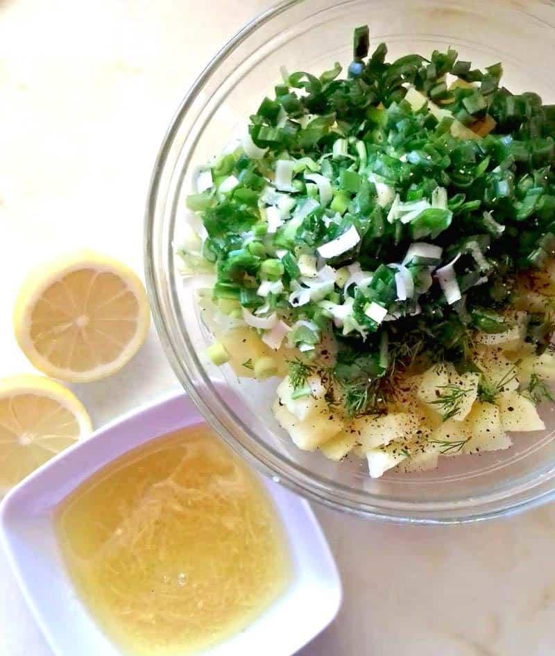 Fresh Potato Salad With Garlic And Lemon