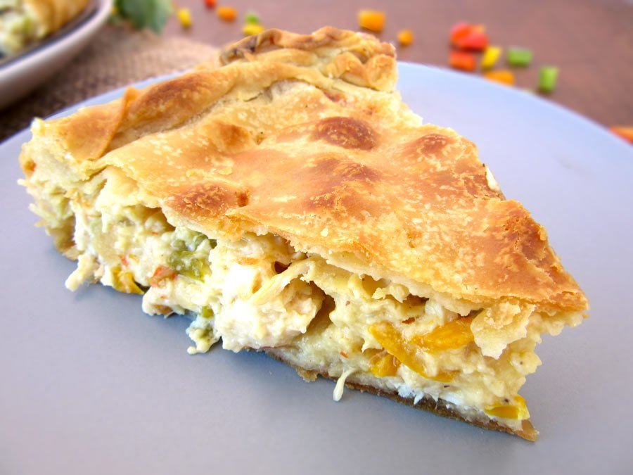 Authentic Greek Chicken Pie Recipe With Homemade Phyllo Kotopita