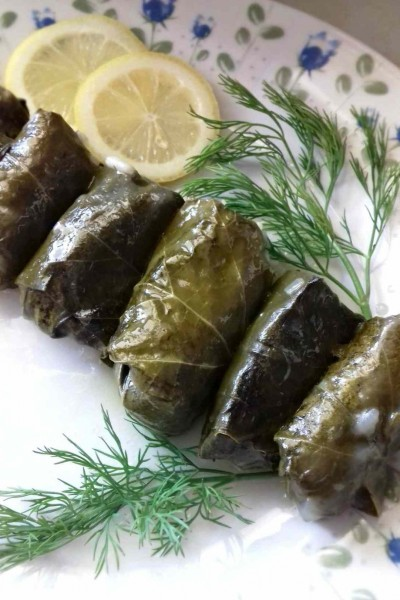 Traditional Greek Stuffed Vine Leaves
