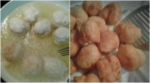 Frying Puff Balls
