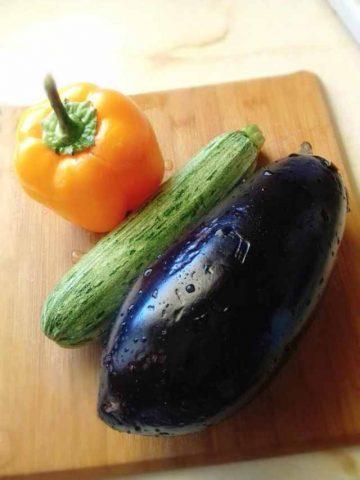 Fresh Zucchini Eggplant Adn Pepper