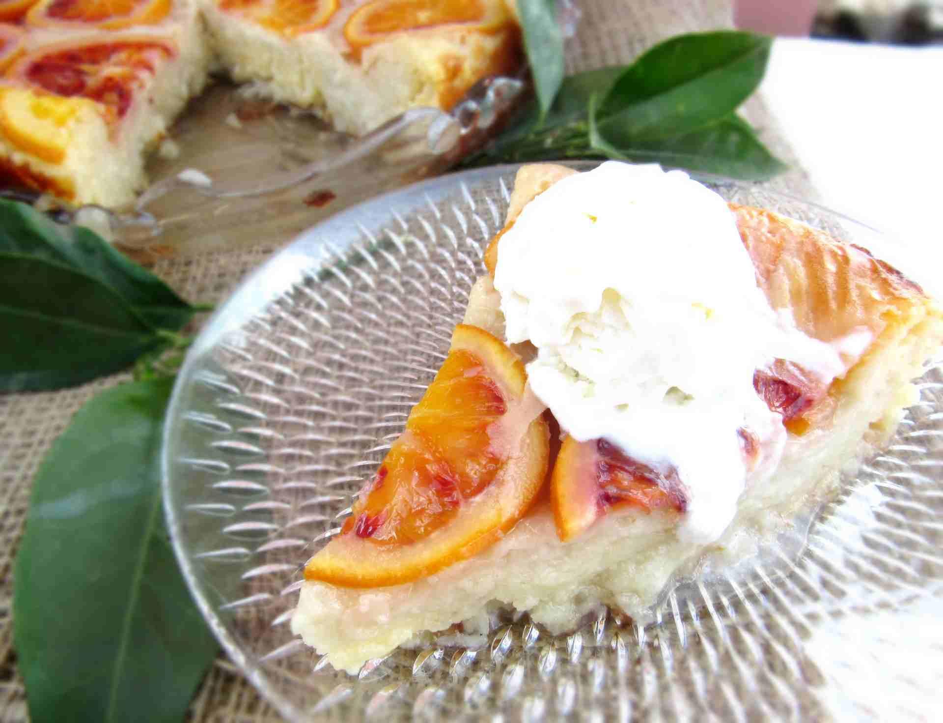 Blood Orange Pie With Frozen Yogurt