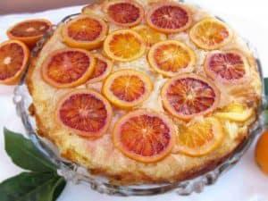 Greek Upside Down Blood Orange Pie