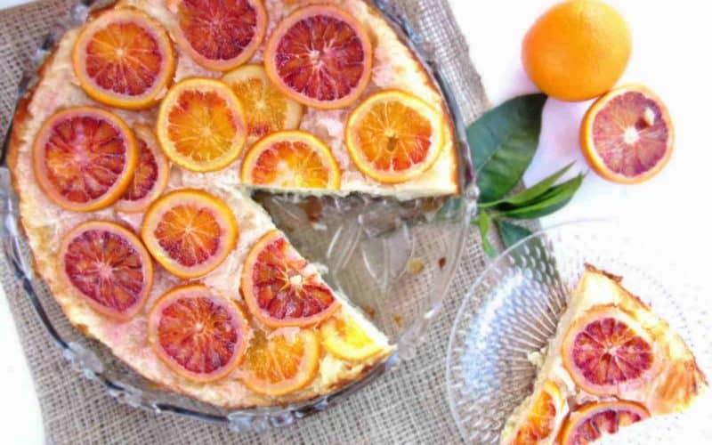 Greek Upside Down Blood Orange Pie Recipe