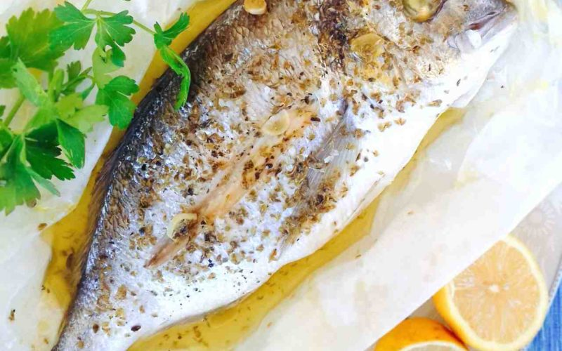 Greek Oven Baked Sea Bream Recipe (Tsipoura)
