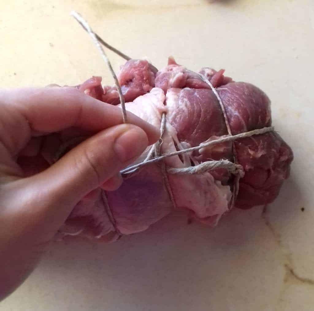 roast pork twine end