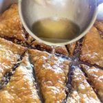 Adding Syrup To Baklava