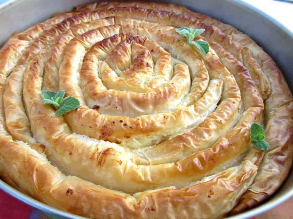 Greek Cheese Pie With Crispy Phyllo