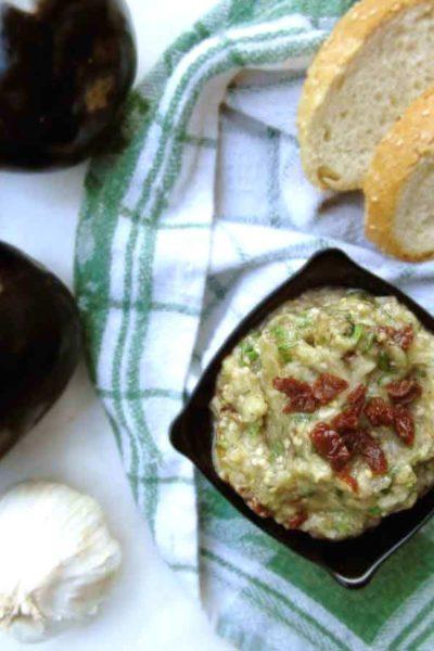 Traditional Greek Smoked Aubergine Dip (Melitzanosalata)