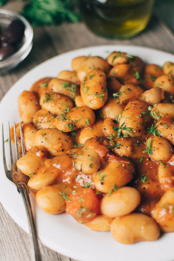 Baked Butter Beans In Tomato Sauce