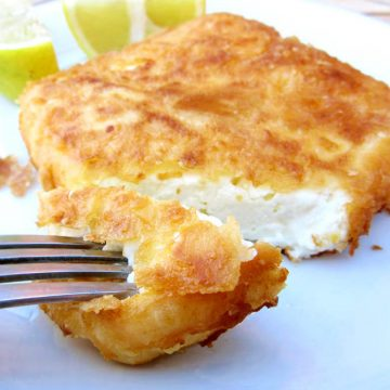 Fried Feta Cheese Saganaki