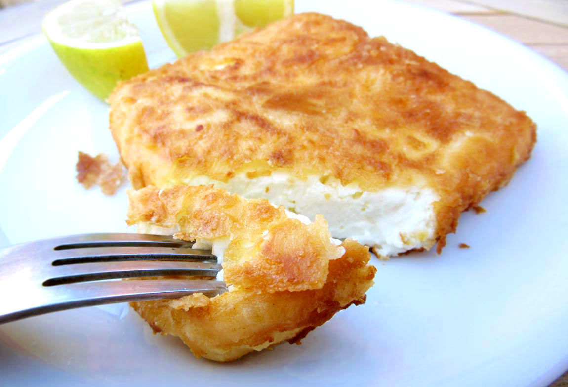 Fried Feta Cheese Saganaki Real Greek Recipes