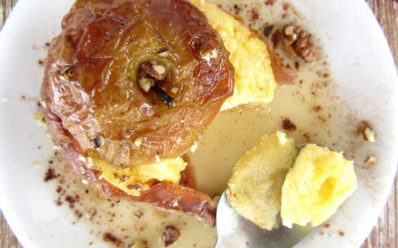 Greek Baked Apples Stuffed With A Fluffy Custard Cream