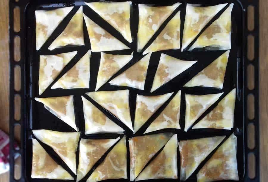 Triangle Pumpkin Pies Kolokuthopitakia