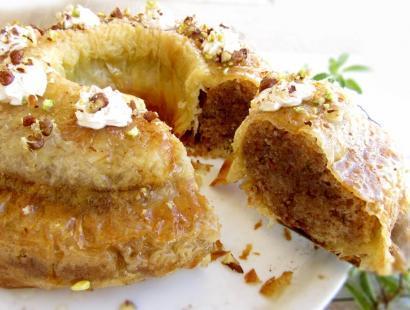 Sponge Cake Baklava Recipe (Greek Style Pudding)