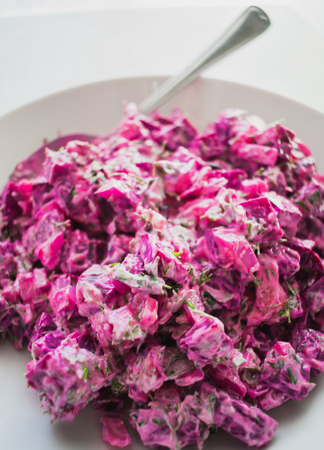 Beetroot Salad With Yogurt