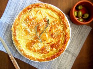 Greek Cheese Pie With Phyllo And Feta Cheese