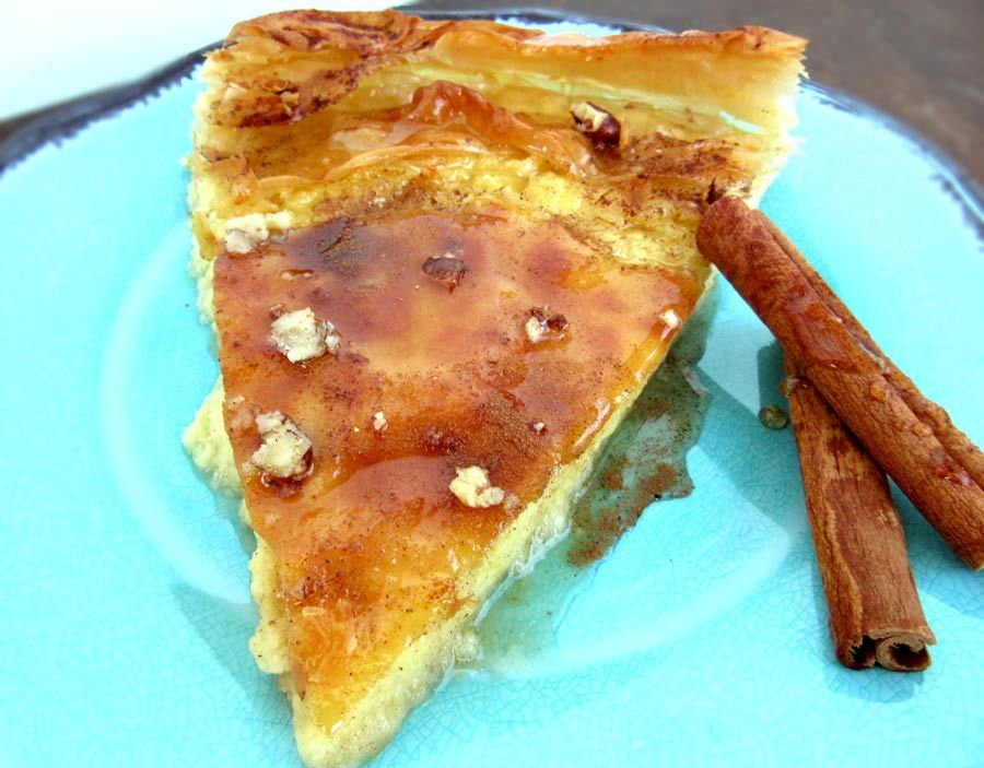 Honey Custard Pie With Phyllo