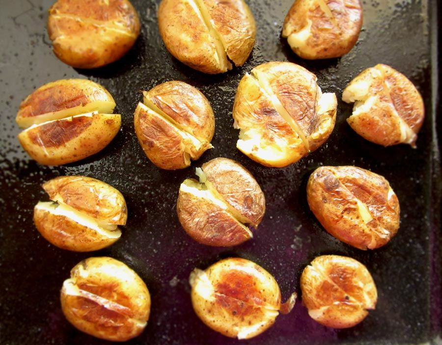 Smashed Oven Roasted Potatoes