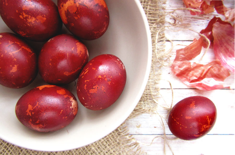 Dye Eggs With Onion Skins