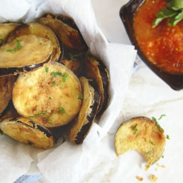 Greek Fried Eggplant Slices (Melitzanes Tiganites)