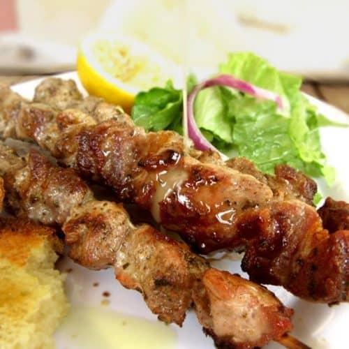 Authentic Greek Souvlaki Recipe - Pork