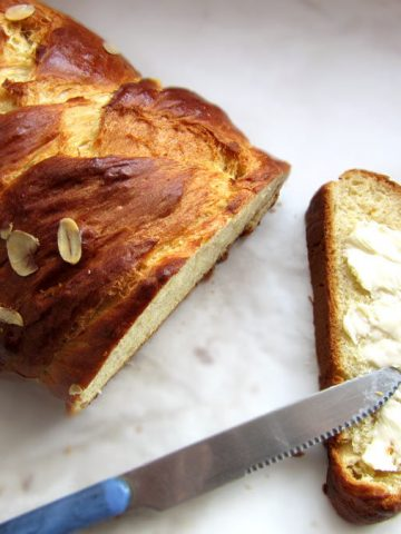 Tsoureki Sweet Bread With Butter