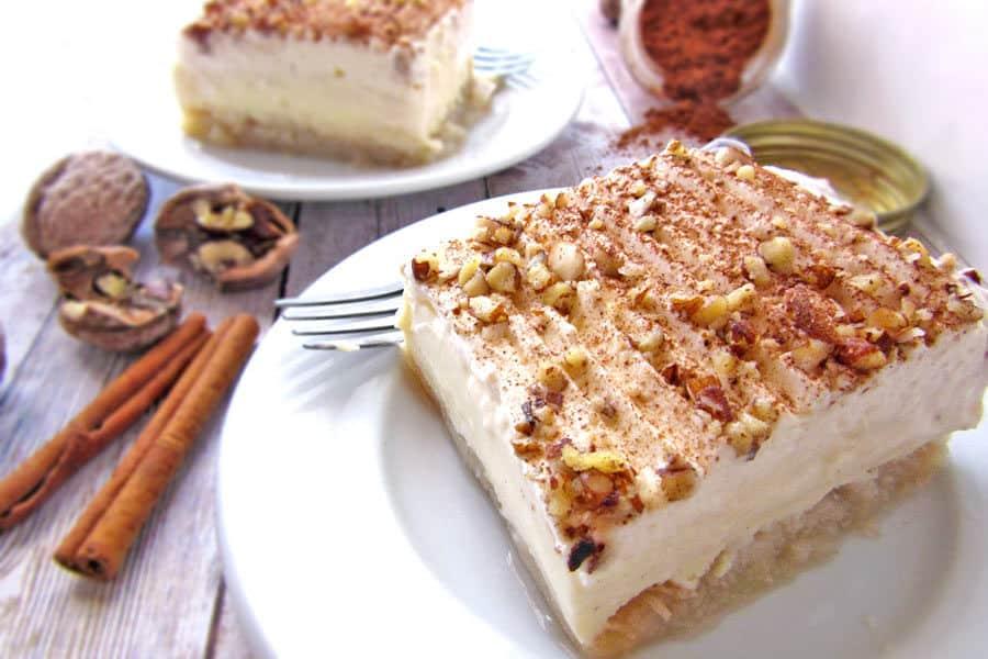 Greek Ekmek Kataifi Syrupy Shredded Pastry And Cream Dessert
