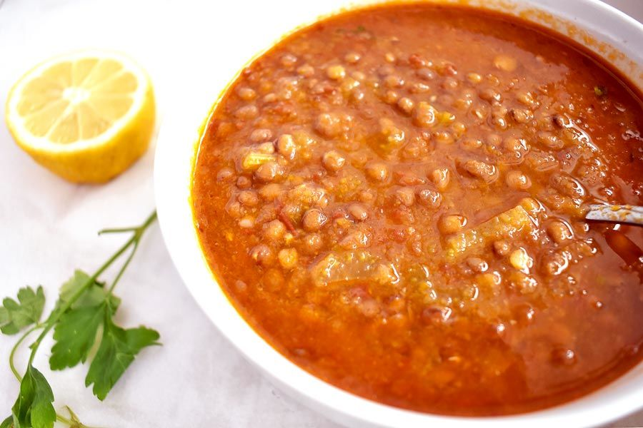 Healthy Tomato Soup Recipe With Lentils