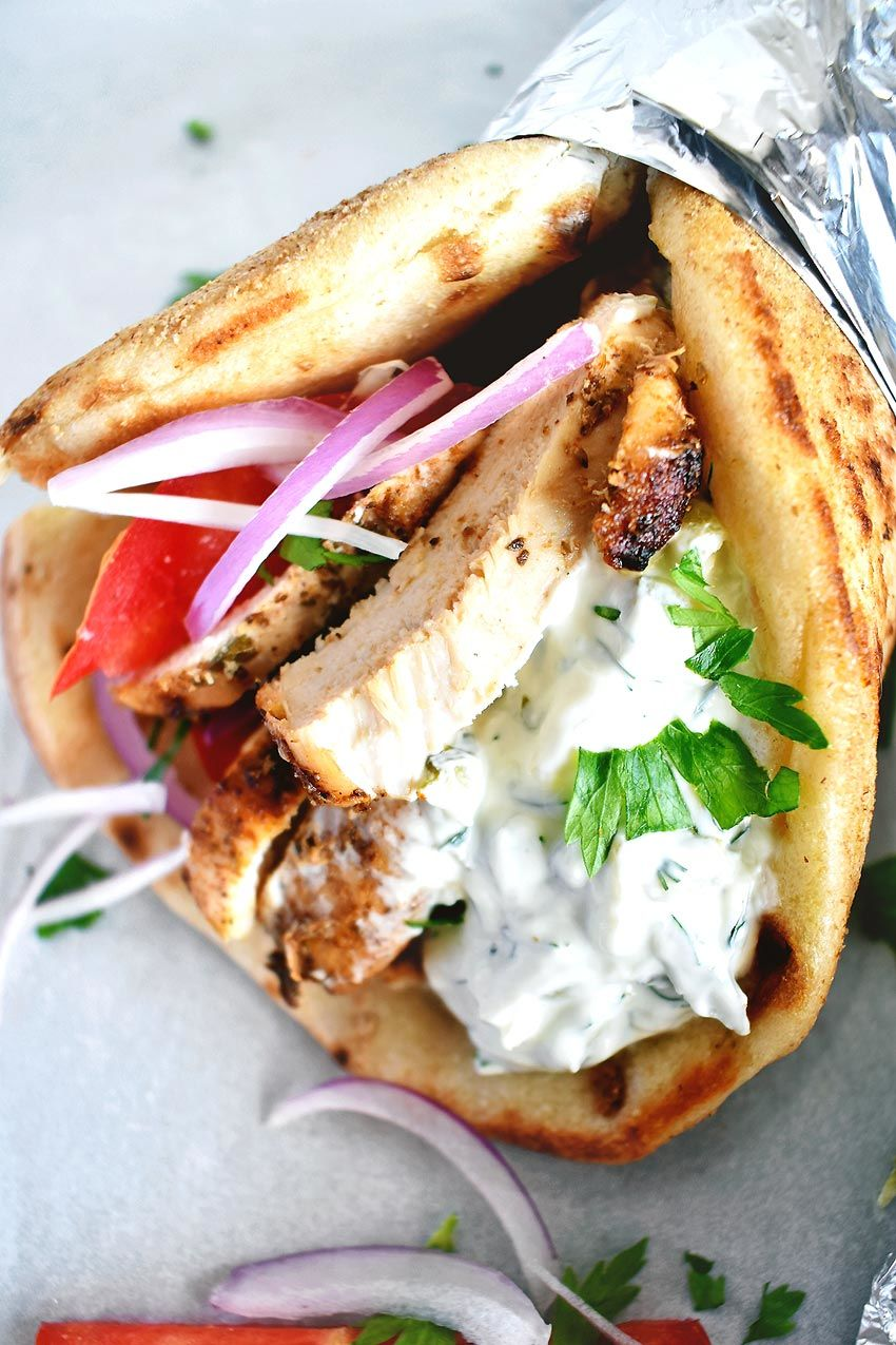 Chicken Gyros Recipe With Tzatziki Sauce Real Greek Recipes