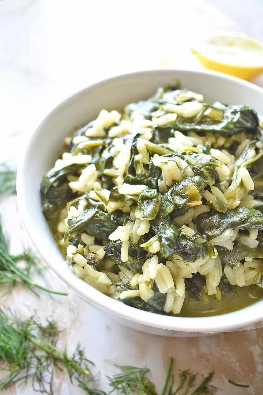 Vegan Spinach Rice Recipe