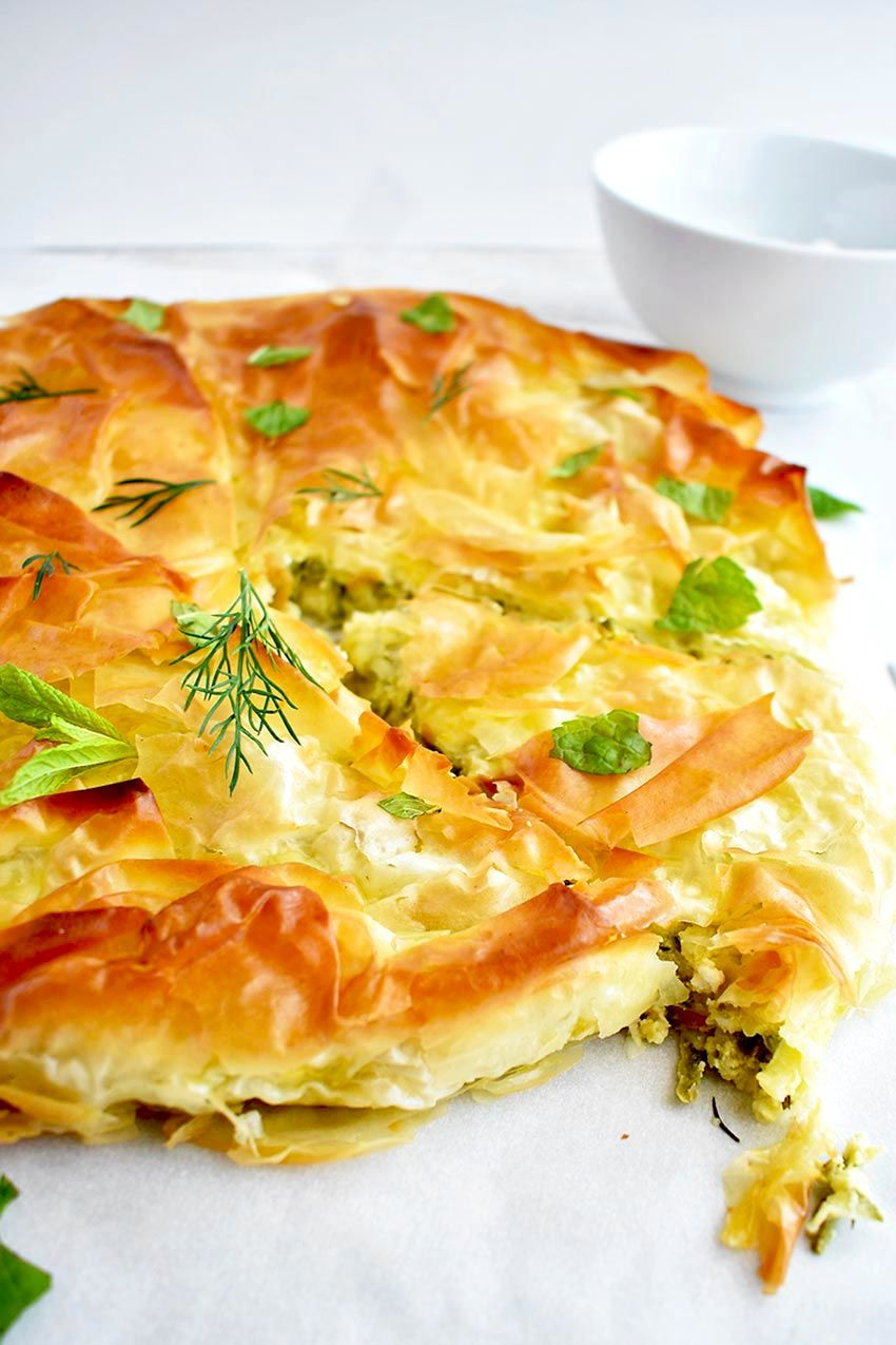Zucchini Pie With Phyllo And Feta Cheese