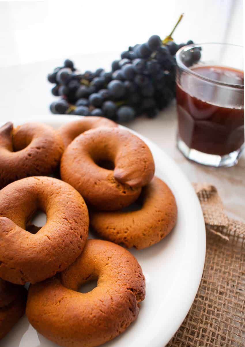 Traditional Greek Moustokouloura Cookies