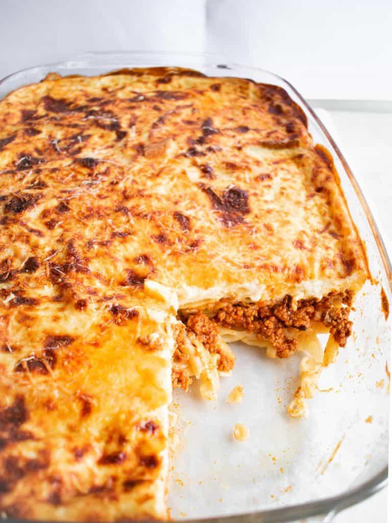 Greek Lasagna Bake
