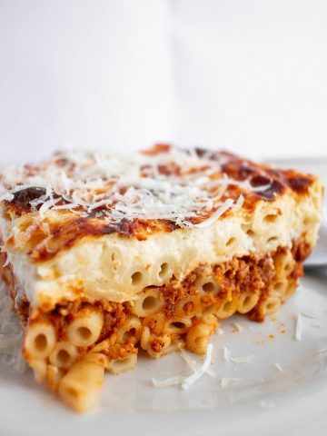 Greek Pastitsio With The Easiest, 5-Minute To Make Cream