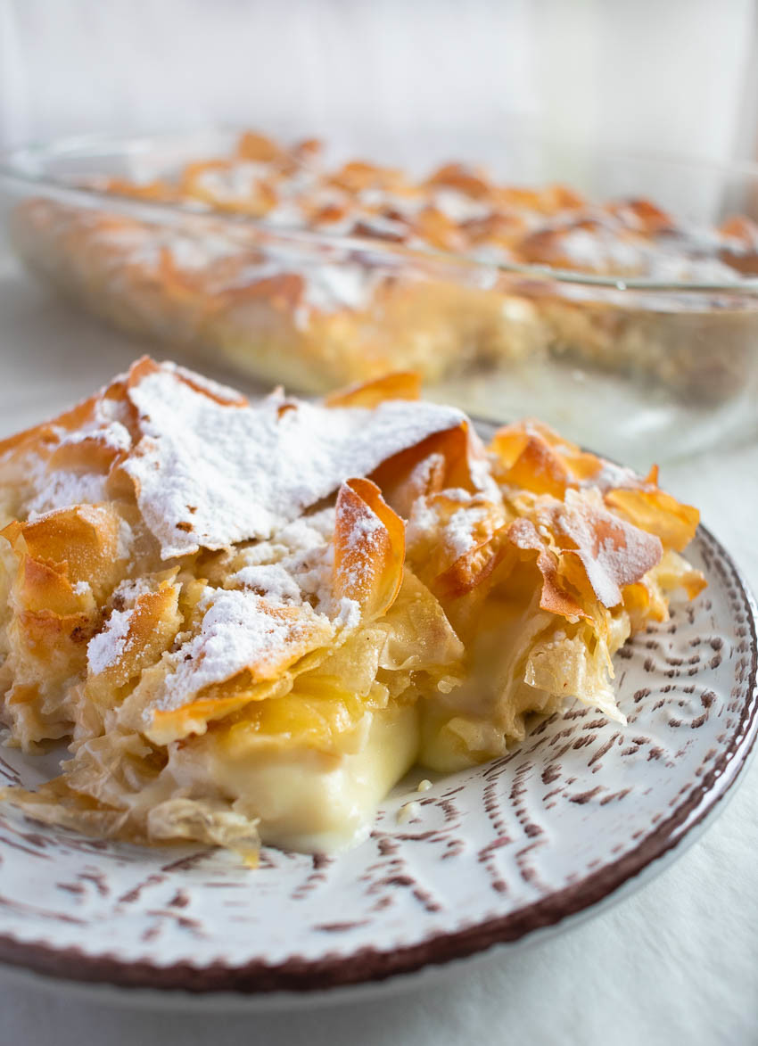 Custard Cream Filled Filo Pastry Bougatsa