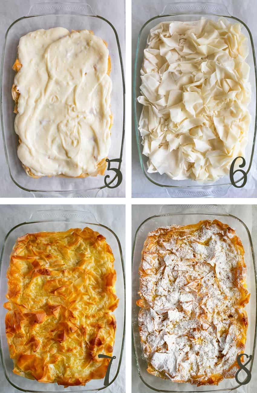 Making Greek Bougatsa Pastry Tutorial