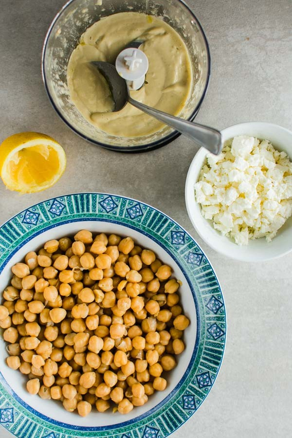 Greek Chickpea Salad With Feta