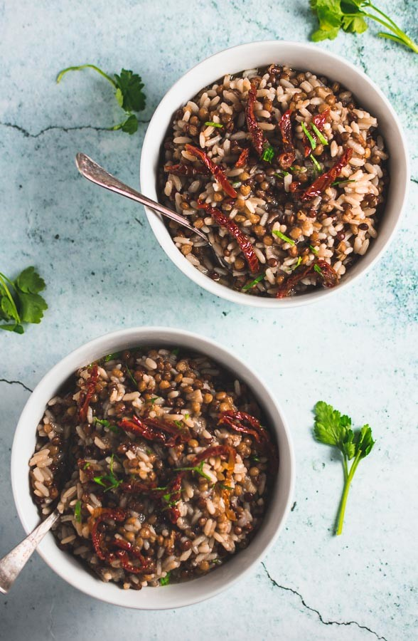 Greek Lentil Rice