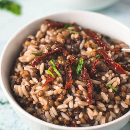 Greek Lentil Rice Fakorizo Vegan Dairy Gluten Free Real Greek Recipes