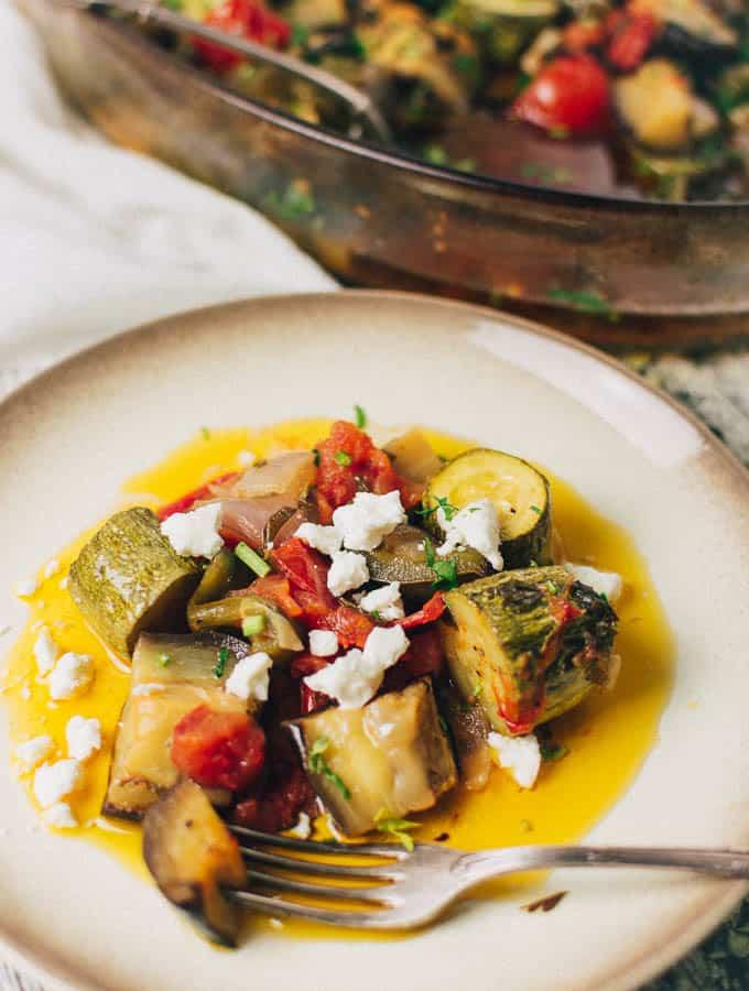 Greek Baked Vegetables