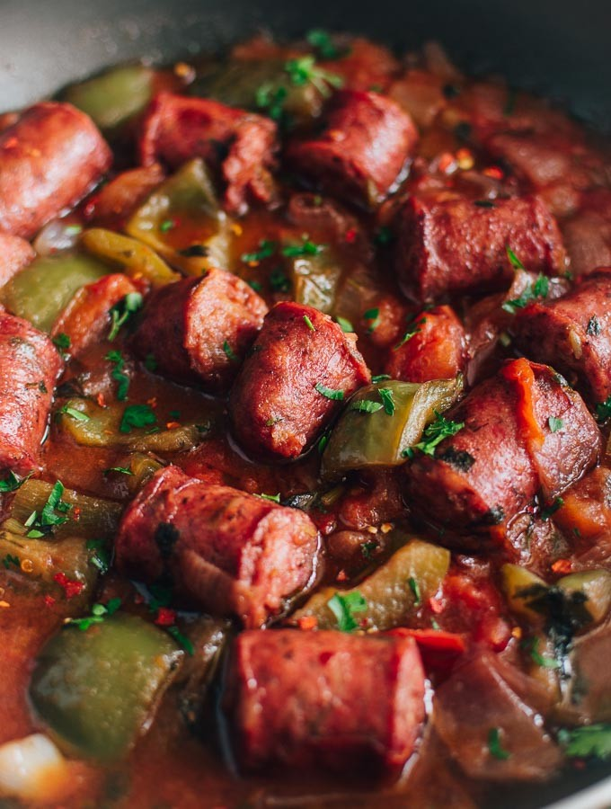 Sausage And Peppers In Tomato Sauce