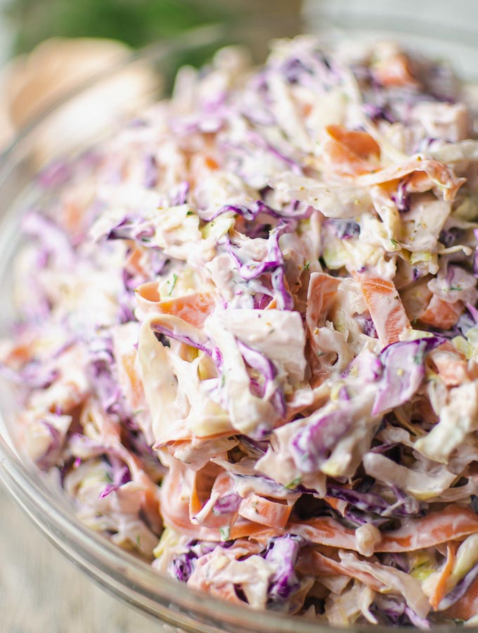 Coleslaw With Greek Yogurt