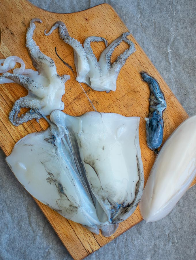 Clean And Prepared Cuttlefish