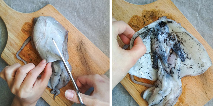 How To Clean A Fresh Cuttlefish