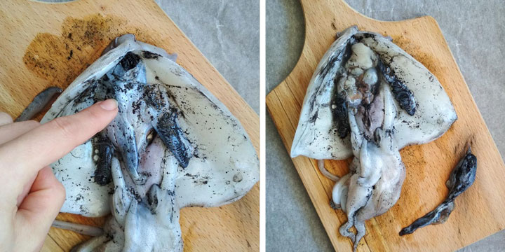 How To Remove Ink From Cuttlefish