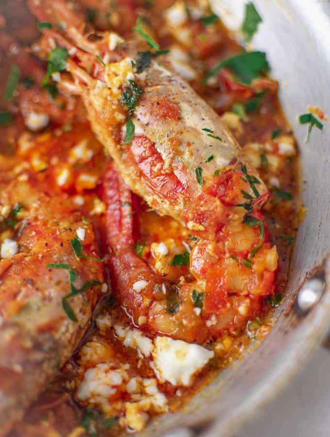Shrimp In Tomato Sauce With Feta